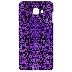 Damask2 Black Marble & Purple Watercolor (r) Samsung C9 Pro Hardshell Case  by trendistuff