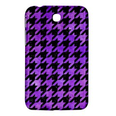 Houndstooth1 Black Marble & Purple Watercolor Samsung Galaxy Tab 3 (7 ) P3200 Hardshell Case  by trendistuff