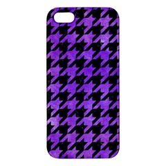 Houndstooth1 Black Marble & Purple Watercolor Iphone 5s/ Se Premium Hardshell Case by trendistuff