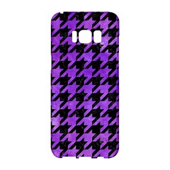 Houndstooth1 Black Marble & Purple Watercolor Samsung Galaxy S8 Hardshell Case  by trendistuff
