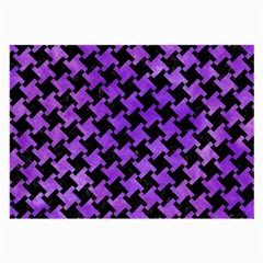 Houndstooth2 Black Marble & Purple Watercolor Large Glasses Cloth (2 Side) by trendistuff