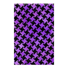 Houndstooth2 Black Marble & Purple Watercolor Shower Curtain 48  X 72  (small)  by trendistuff
