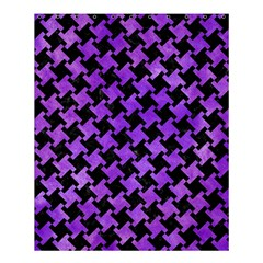 Houndstooth2 Black Marble & Purple Watercolor Shower Curtain 60  X 72  (medium)  by trendistuff