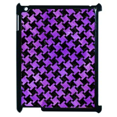 Houndstooth2 Black Marble & Purple Watercolor Apple Ipad 2 Case (black)
