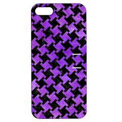 Houndstooth2 Black Marble & Purple Watercolor Apple Iphone 5 Hardshell Case With Stand by trendistuff