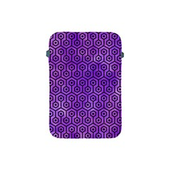 Hexagon1 Black Marble & Purple Watercolor Apple Ipad Mini Protective Soft Cases by trendistuff
