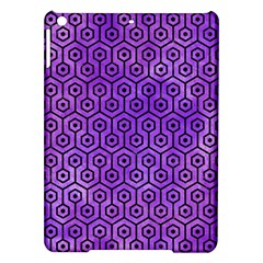 Hexagon1 Black Marble & Purple Watercolor Ipad Air Hardshell Cases by trendistuff