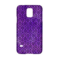 Hexagon1 Black Marble & Purple Watercolor Samsung Galaxy S5 Hardshell Case  by trendistuff