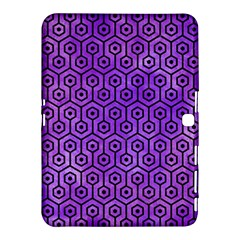 Hexagon1 Black Marble & Purple Watercolor Samsung Galaxy Tab 4 (10 1 ) Hardshell Case  by trendistuff