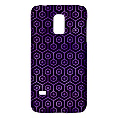Hexagon1 Black Marble & Purple Watercolor (r) Galaxy S5 Mini by trendistuff
