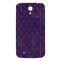 Hexagon1 Black Marble & Purple Watercolor (r) Samsung Galaxy Mega I9200 Hardshell Back Case by trendistuff