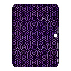 Hexagon1 Black Marble & Purple Watercolor (r) Samsung Galaxy Tab 4 (10 1 ) Hardshell Case  by trendistuff