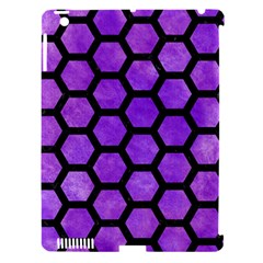 Hexagon2 Black Marble & Purple Watercolor Apple Ipad 3/4 Hardshell Case (compatible With Smart Cover) by trendistuff