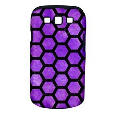 Hexagon2 Black Marble & Purple Watercolor Samsung Galaxy S Iii Classic Hardshell Case (pc+silicone) by trendistuff