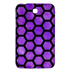Hexagon2 Black Marble & Purple Watercolor Samsung Galaxy Tab 3 (7 ) P3200 Hardshell Case  by trendistuff