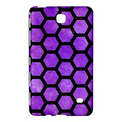 Hexagon2 Black Marble & Purple Watercolor Samsung Galaxy Tab 4 (8 ) Hardshell Case  by trendistuff