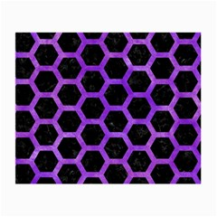 Hexagon2 Black Marble & Purple Watercolor (r) Small Glasses Cloth (2 Side) by trendistuff