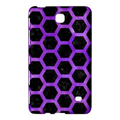 Hexagon2 Black Marble & Purple Watercolor (r) Samsung Galaxy Tab 4 (7 ) Hardshell Case  by trendistuff