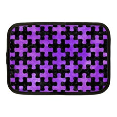 Puzzle1 Black Marble & Purple Watercolor Netbook Case (medium)  by trendistuff
