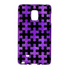 Puzzle1 Black Marble & Purple Watercolor Galaxy Note Edge by trendistuff