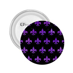 Royal1 Black Marble & Purple Watercolor 2 25  Buttons by trendistuff