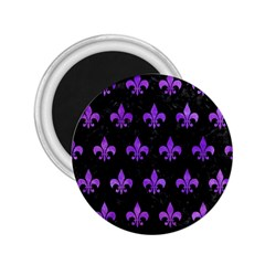 Royal1 Black Marble & Purple Watercolor 2 25  Magnets by trendistuff