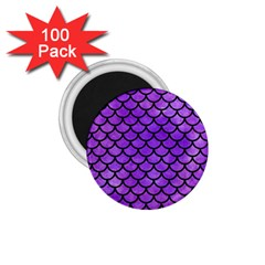 Scales1 Black Marble & Purple Watercolor 1 75  Magnets (100 Pack)  by trendistuff