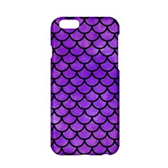 Scales1 Black Marble & Purple Watercolor Apple Iphone 6/6s Hardshell Case by trendistuff