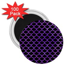 Scales1 Black Marble & Purple Watercolor (r) 2 25  Magnets (100 Pack)  by trendistuff