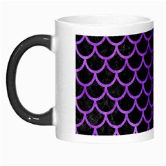 Scales1 Black Marble & Purple Watercolor (r) Morph Mugs by trendistuff