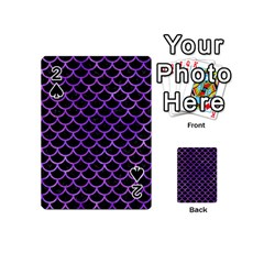 Scales1 Black Marble & Purple Watercolor (r) Playing Cards 54 (mini)  by trendistuff