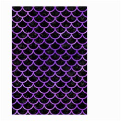 Scales1 Black Marble & Purple Watercolor (r) Small Garden Flag (two Sides) by trendistuff