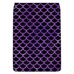 Scales1 Black Marble & Purple Watercolor (r) Flap Covers (l)  by trendistuff