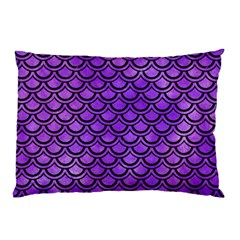 Scales2 Black Marble & Purple Watercolor Pillow Case by trendistuff