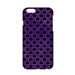 Scales2 Black Marble & Purple Watercolor (r) Apple Iphone 6/6s Hardshell Case by trendistuff