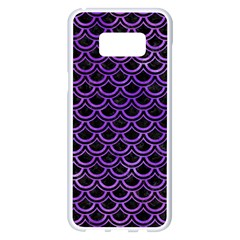 Scales2 Black Marble & Purple Watercolor (r) Samsung Galaxy S8 Plus White Seamless Case by trendistuff