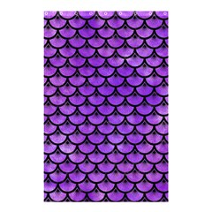 Scales3 Black Marble & Purple Watercolor Shower Curtain 48  X 72  (small)  by trendistuff