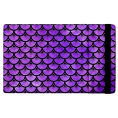 Scales3 Black Marble & Purple Watercolor Apple Ipad 3/4 Flip Case by trendistuff