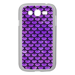 Scales3 Black Marble & Purple Watercolor Samsung Galaxy Grand Duos I9082 Case (white) by trendistuff
