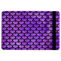 Scales3 Black Marble & Purple Watercolor Ipad Air 2 Flip by trendistuff