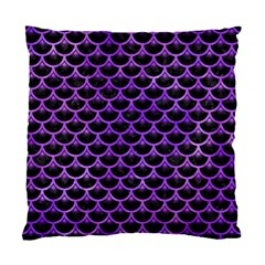 Scales3 Black Marble & Purple Watercolor (r) Standard Cushion Case (two Sides) by trendistuff