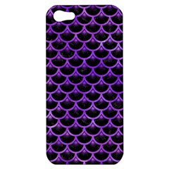 Scales3 Black Marble & Purple Watercolor (r) Apple Iphone 5 Hardshell Case by trendistuff