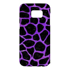 Skin1 Black Marble & Purple Watercolor Samsung Galaxy S7 Edge Hardshell Case by trendistuff