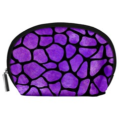 Skin1 Black Marble & Purple Watercolor (r) Accessory Pouches (large)  by trendistuff