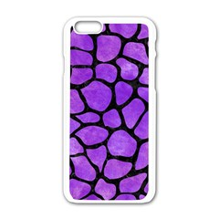 Skin1 Black Marble & Purple Watercolor (r) Apple Iphone 6/6s White Enamel Case by trendistuff