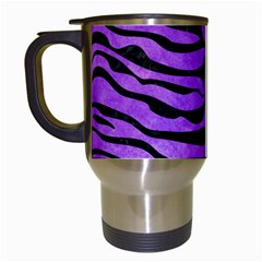 Skin2 Black Marble & Purple Watercolor Travel Mugs (white) by trendistuff