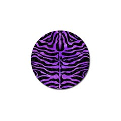 Skin2 Black Marble & Purple Watercolor (r) Golf Ball Marker (10 Pack) by trendistuff