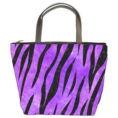 Skin3 Black Marble & Purple Watercolor Bucket Bags by trendistuff