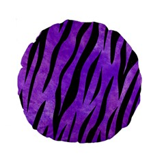 Skin3 Black Marble & Purple Watercolor Standard 15  Premium Round Cushions by trendistuff