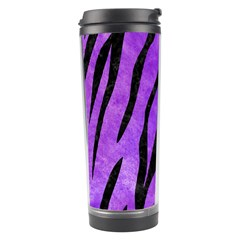 Skin3 Black Marble & Purple Watercolor Travel Tumbler by trendistuff
